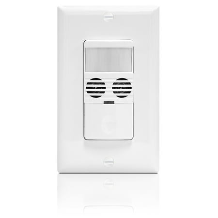 Enerlites MWOS Dual Technology Occupancy Sensor Switch, PIR & Ultrasonic Motion Detectors Combined, Neutral Required, White