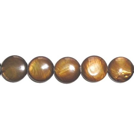 10mm 35 beads brown Mother of pearl coin beads Genuine Natural Gemstone Jewelry making