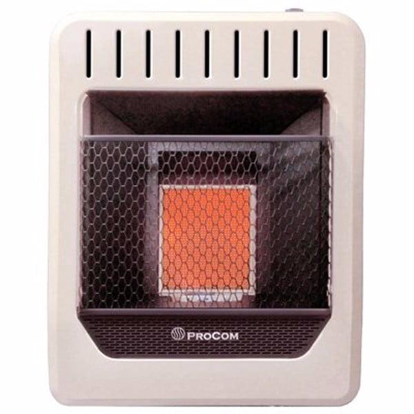 Procom MG1TIR Dual Fuel Gas Infrared Wall Heater, 1 Plaque, 10,000 BTU'S