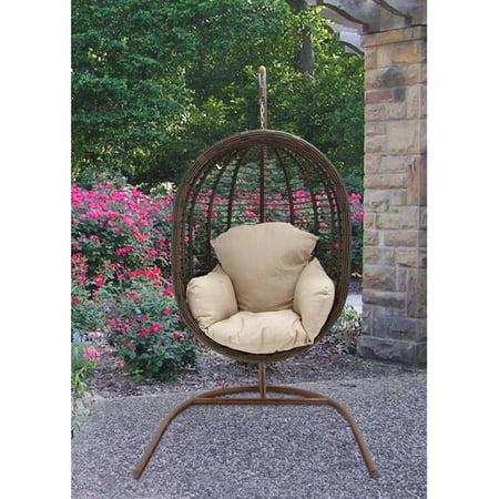 Hanover Outdoor Furniture Rattan Wicker Pod Swing Chair