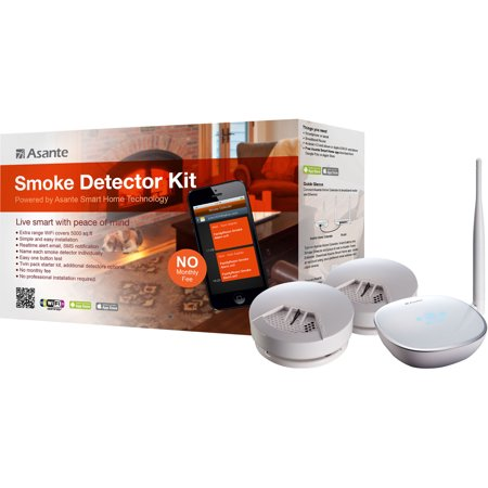 SMOKE DETECTOR KIT EMAIL TEXT NOTIFICATION AT SMOKE DETECTION