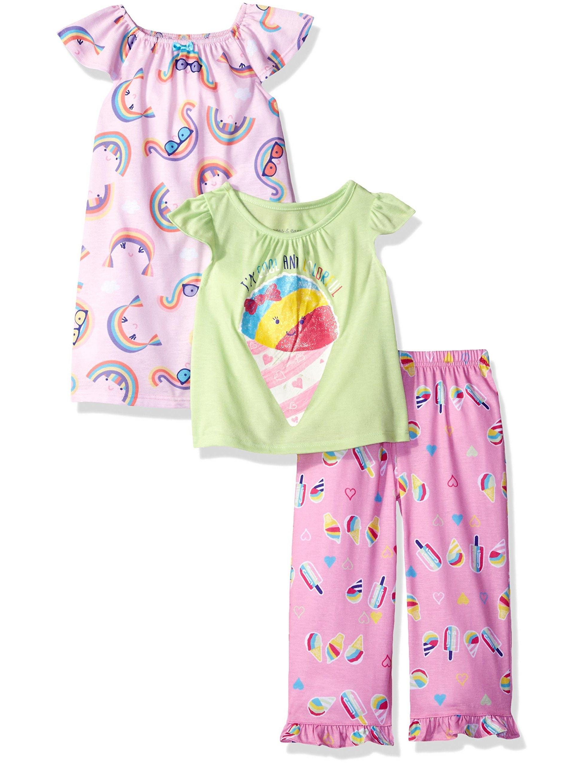 Toddler Girls' 3 Pc Sleepwear Set