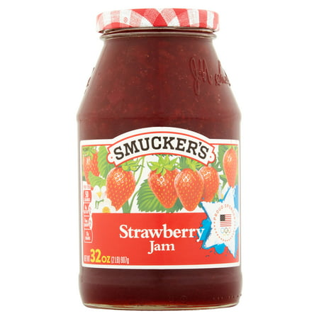 (3 Pack) Smucker's Strawberry Jam, 32-Ounce ()