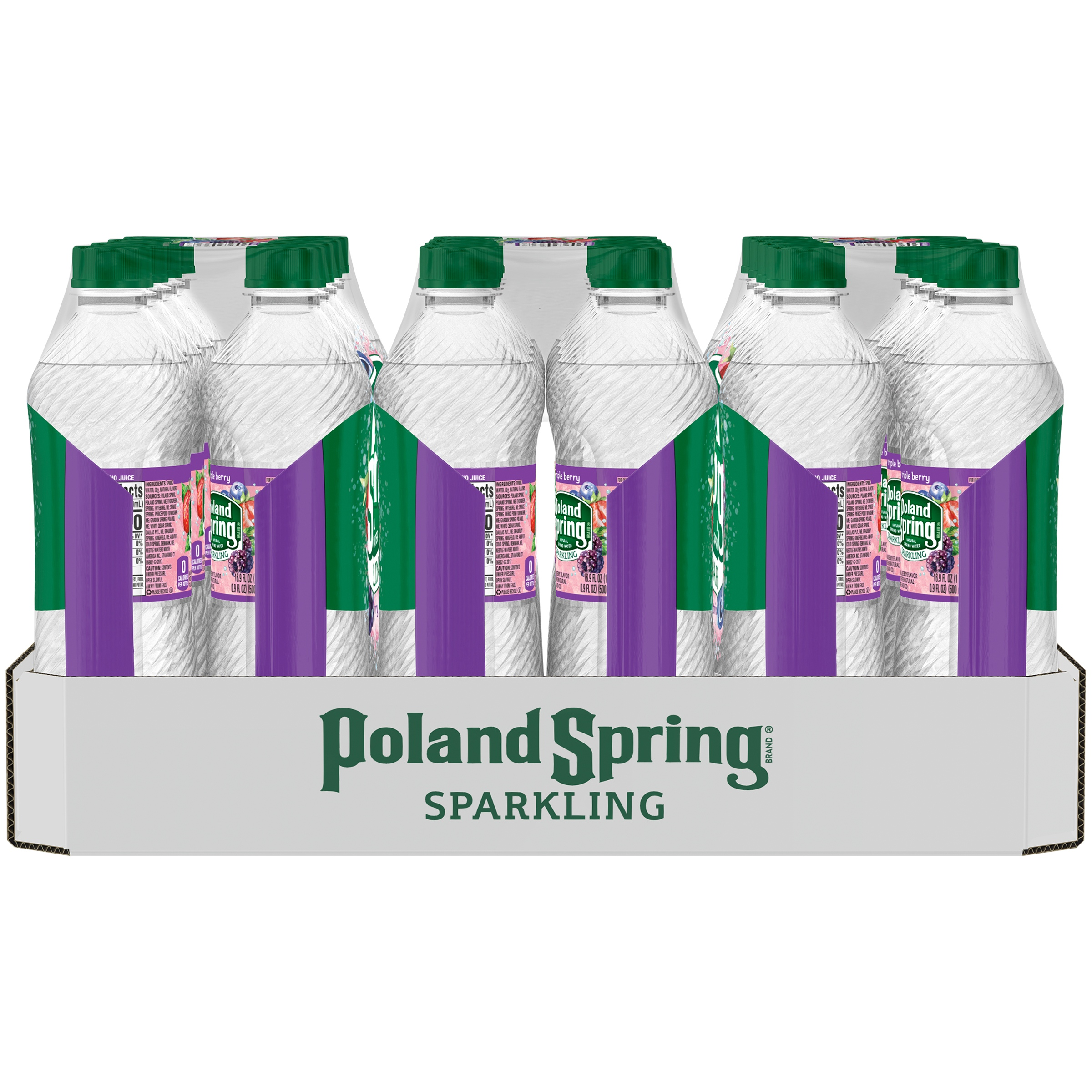 POLAND SPRING Sparkling Triple Berry Natural Spring Water 24 ct Pack