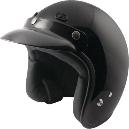 Zox Classic Junior Open Face Helmets Medium Glossy Black