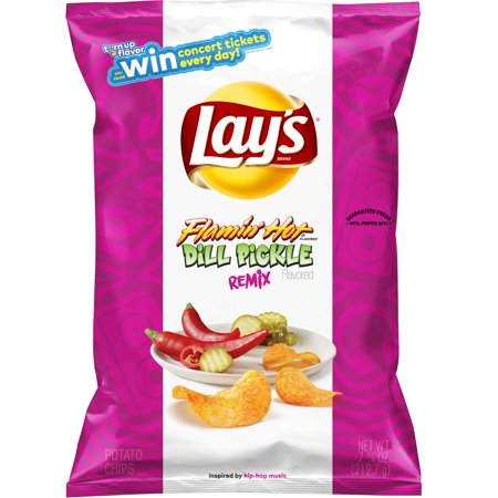 Lays Flamin Hot Dill Pickle Potato Chips - 7.75oz