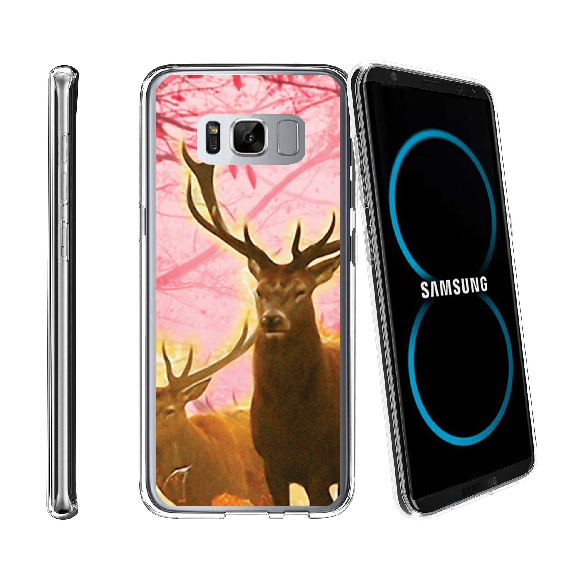 Case for Samsung Galaxy S8 Plus | Galaxy S8 Plus Transparent Silicone Case [ Flex Force ] Flexible Clear Case Hunting Collection