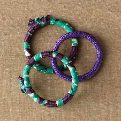 Gahaya Links for Full Circle Exchange 3-Piece Fabric Bangles Bracelet Set
