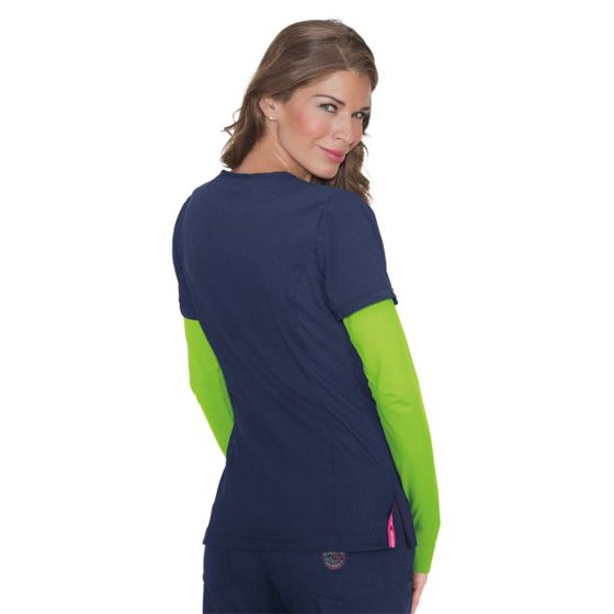 59ad9221e90 ... Rib trim: 92% Polyester/8% Spandex. Center back length: 26