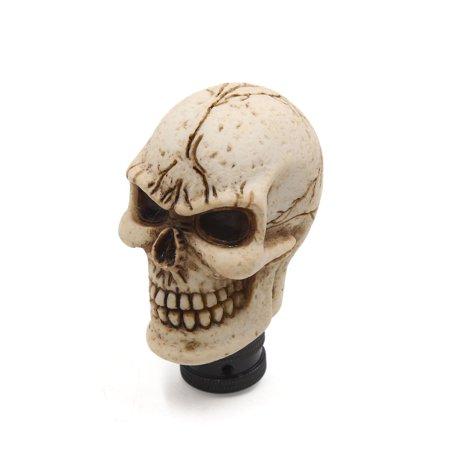 - Universal Skull Head Style Car Truck Manual Stick Gear Shift Lever Knob White