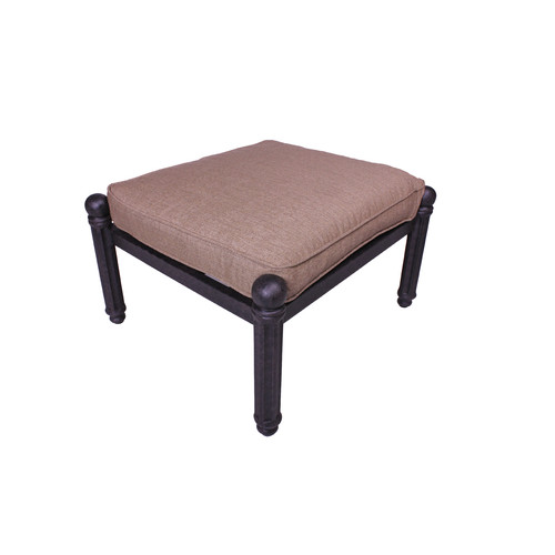 California Outdoor Designs Baldwin Ottoman with Cushion