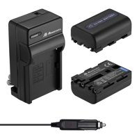 Powerextra 2-Pack 2300mAh 7.2V Camera NP-FM50 Battery + Battery Charger for Sony NP-FM30 NP-FM51 NP-QM50 NP-QM51 NP-FM55H Battery and Sony M Type NP-FM50 Equivalent Camcorder