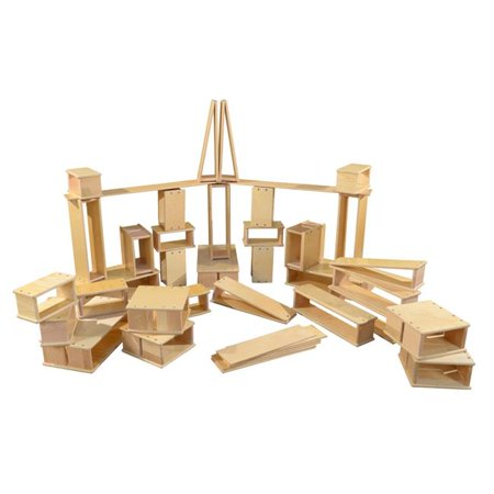 40-Pc Hollow Wooden Block