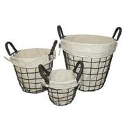 Entrada 3 Piece Wire Basket with Linen Set