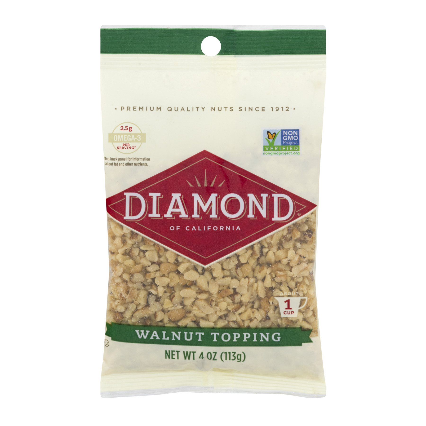 Diamond Of California Finely Diced Walnuts, 4.0 OZ