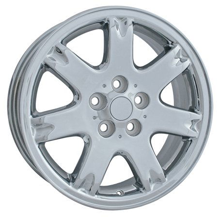 (2001-2002 Chrysler Sebring  17x6.5 Aluminum Alloy Wheel, Rim Chrome Plated - 2147)
