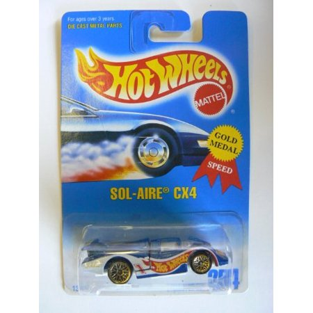 hot wheels gold medal speed sol-aire cx4 1991 collector #254 gold lace