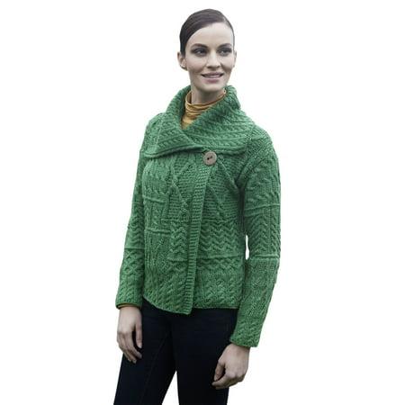 6cb048ebb Aran Woollen Mills - Ladies Patchwork 1 Button Collar Wool Irish ...