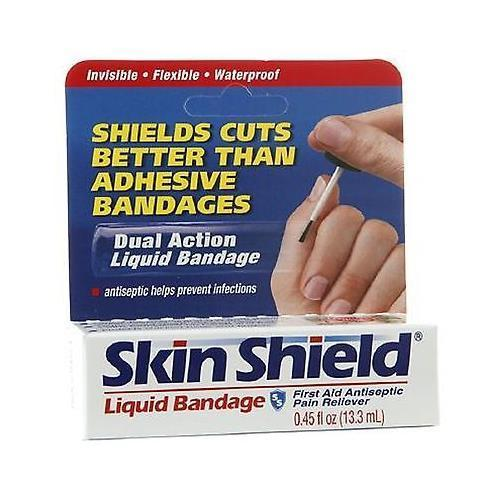 4 Pack Skin Shield Liquid Banage, 0.45-ounce Protects Like a Second Skin
