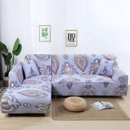 Stretch Fabric Sofa Slipcover 1 2 3 4 seater L shape , Elastic ...