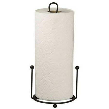 Home Basics Paper Towel Holder, Black