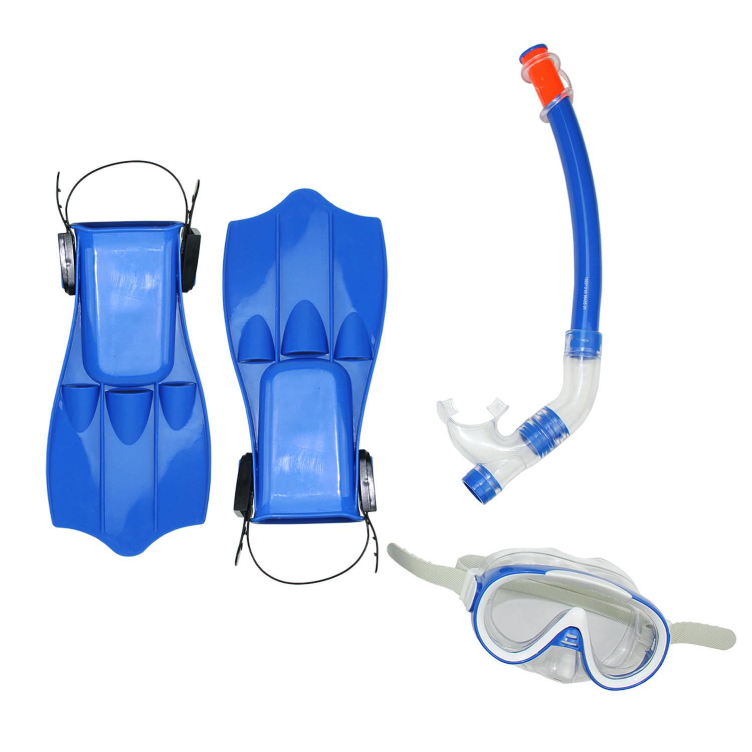 Blue Caribbean Junior Water or Swimming Pool Scuba or Snorkeling Set Medium by Swim Central