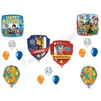PAW PATROL 3rd Birthday Balloons Decoration Supplies Party Chase Marshall Ryder