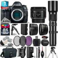 Canon EOS 5D Mark IV Camera + 50mm + 500mm - 4 Lens Kit + 32GB + 2yr Warranty