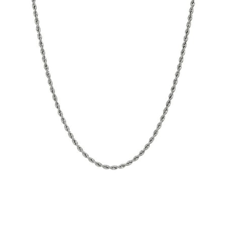 10K White Gold 20 1.8MM Rope Chain