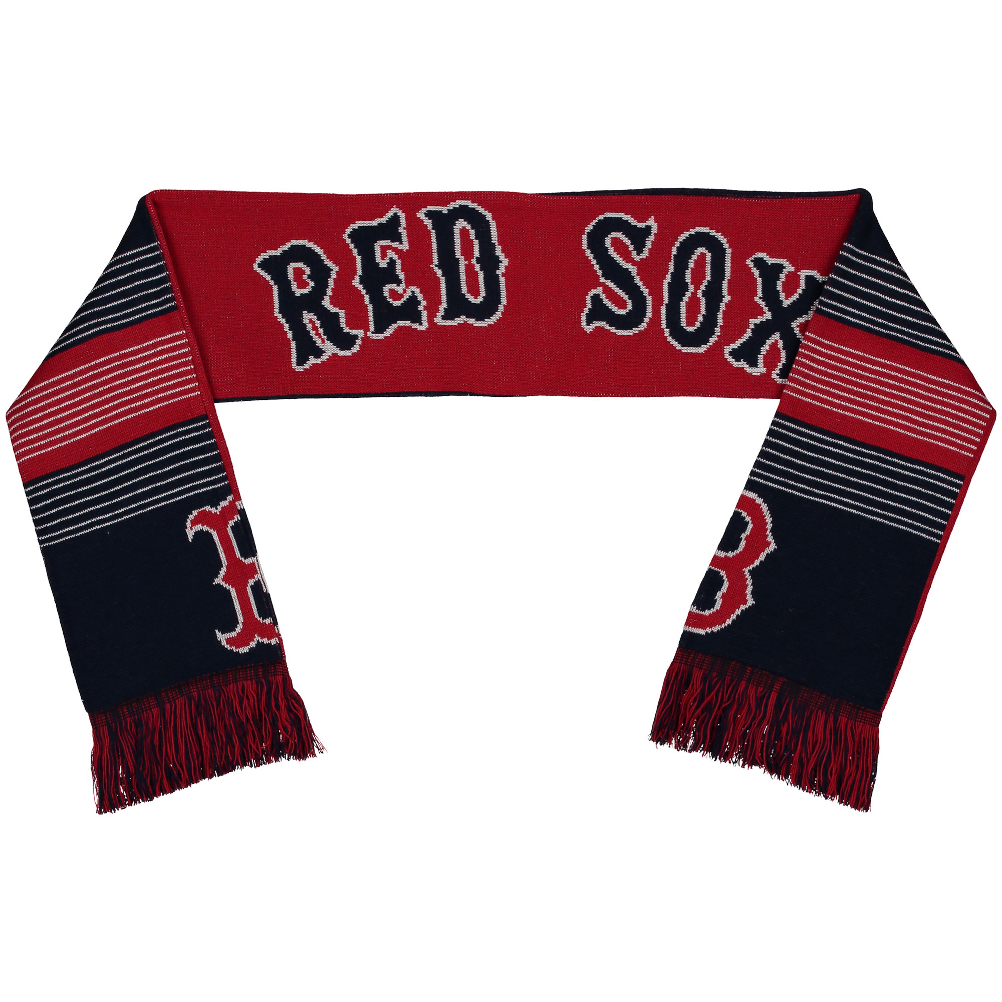 Boston Red Sox Split Logo Reversible Scarf - No Size