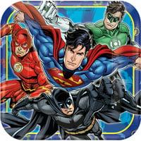 DC Justice League Superhero Batman Superman Birthday Party 9 inch Plates 16 Count