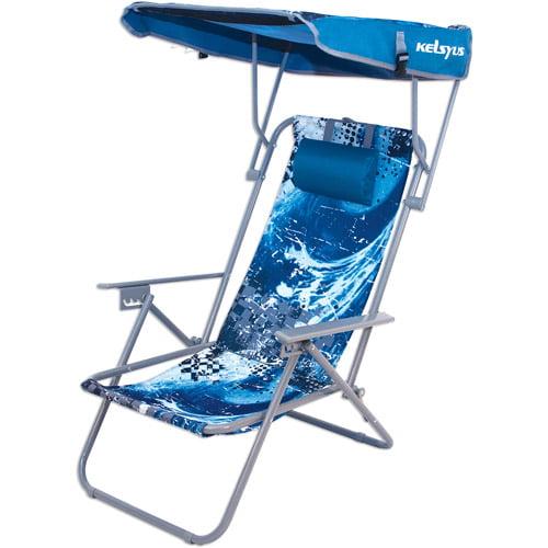 Kelsyus Beach Canopy Chair Blue Wave