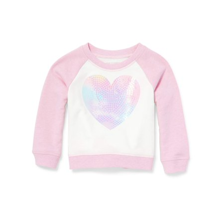 The Children's Place Long Sleeve Raglan Colorblock Graphic Pullover (Baby Girls & Toddler Girls) (Baby Alpaca Pullover)