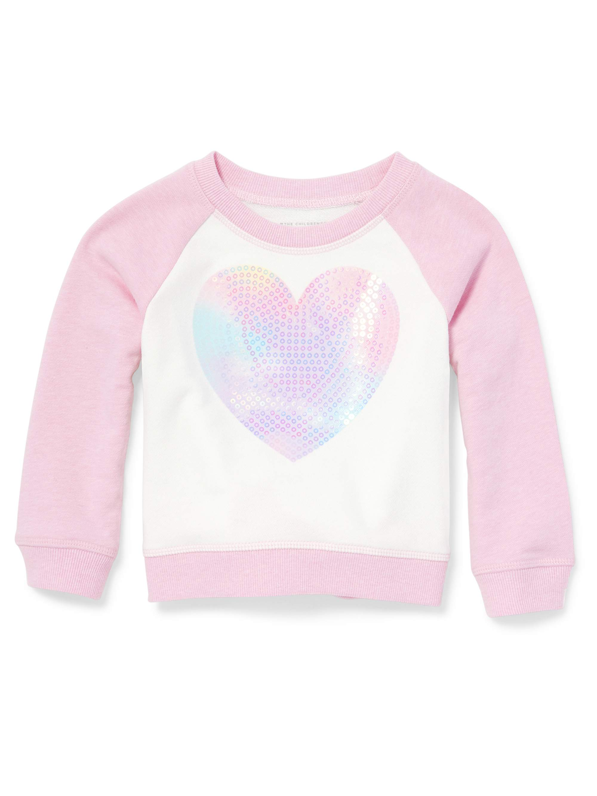 Long Sleeve Raglan Colorblock Graphic Pullover (Baby Girls & Toddler Girls)