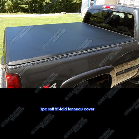 Cab Folding Bakflip Tonneau Cover - Ford F-150 Supercrew Cab 5.5' Short Bed 2004-2014 Soft Tri-Fold Tonneau Cover