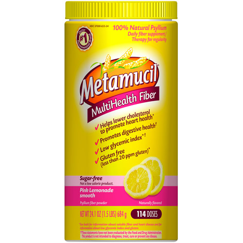 Metamucil Pink Lemonade Fiber Supplement, 24.1 oz