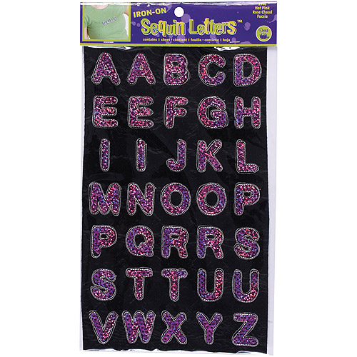 Dritz Iron-On Sequin Letters