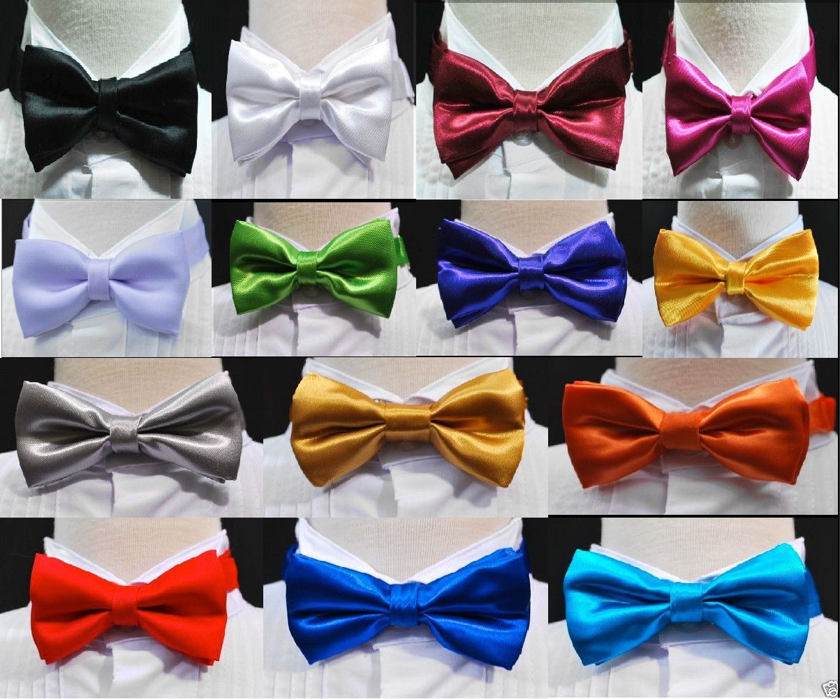 Flying Birds Bow Tie for Men Tuxedo /& Wedding Solid Color
