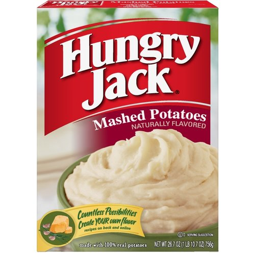 Hungry Jack Naturally Flavored Mashed Potatoes, 26.7 oz
