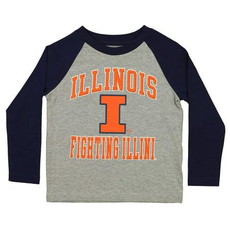 Outerstuff NCAA Kids Illinois Fighting Illini Constant Raglan Tee
