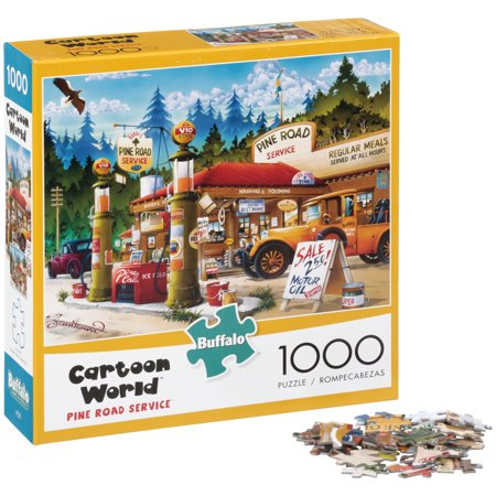 Buffalo™ Cartoon World™ Pine Road Service™ 1000 Piece Puzzle Box