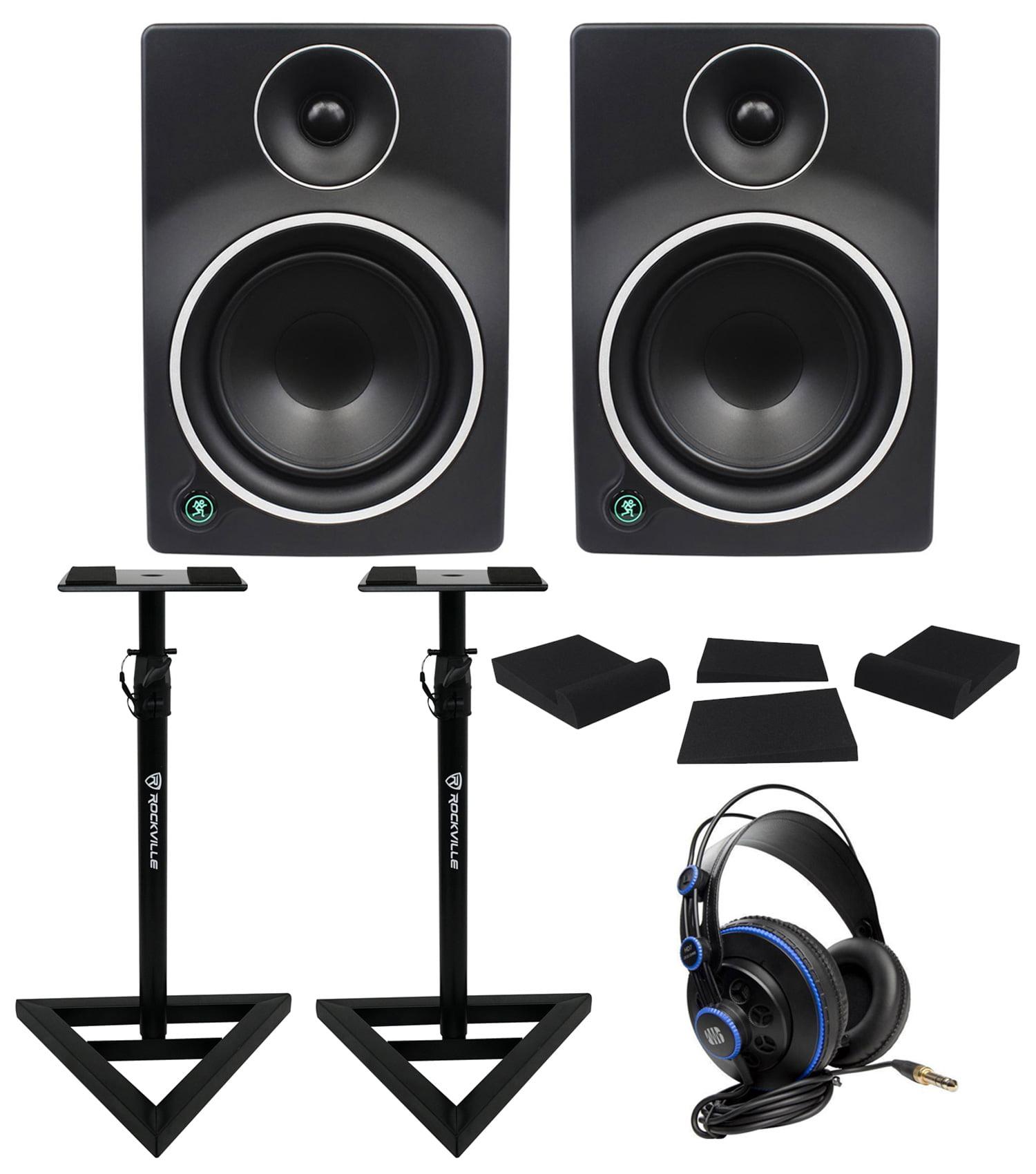 """(2) Mackie MR6mk3 6"""" Powered Studio Monitors+Speaker Stands+Headphones+Foam Pads by Mackie"""