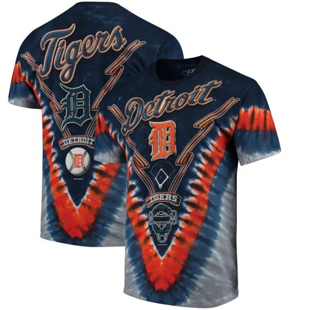 Detroit Tigers Baseball Park (Detroit Tigers Tie-Dye T-Shirt - Navy Blue)