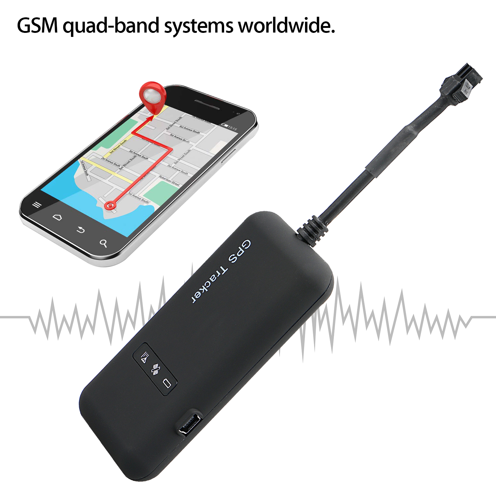 Car Vehicle Tracker Real time Locator GPS/GSM/GPRS/SMS Tracking Motorcycle BIke Protector Monitor Antitheft AH208 Mini Portable
