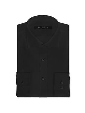 Sean John Mens Tailored Fit Button Up Dress Shirt