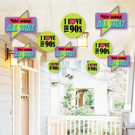 Hanging 90 S Throwback Outdoor 1990s Party Hanging Porch