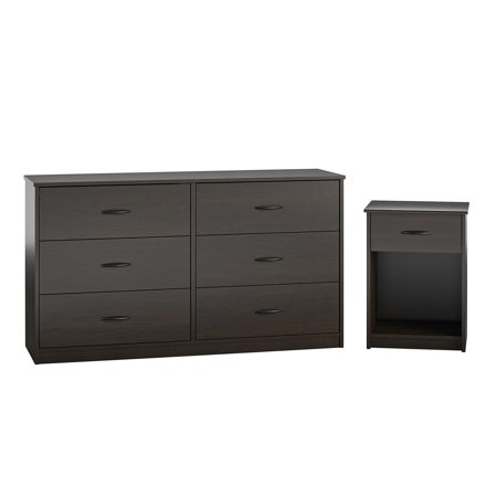 Mainstays Classic Nightstand with Drawer, Espresso