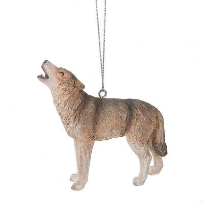GREY WOLF Howling Christmas Ornament, by Midwest (Best Midwest Man Christmas)