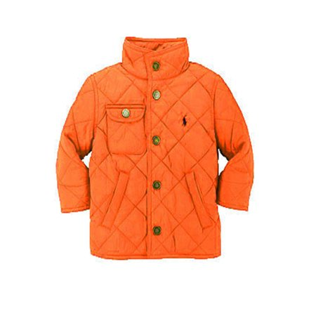 polo ralph lauren youth boys herren quilted jacket orange. Black Bedroom Furniture Sets. Home Design Ideas