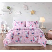 Heritage Club Magical Unicorn Bed in a Bag Set, Twin, Pink